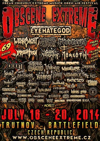 Live Obscene Extreme Festival 2014 Day 3 July 18th