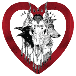 ATG Skull 500px x 500px plus heart