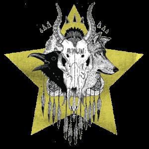 ATG Skull 500px x 500px plus star