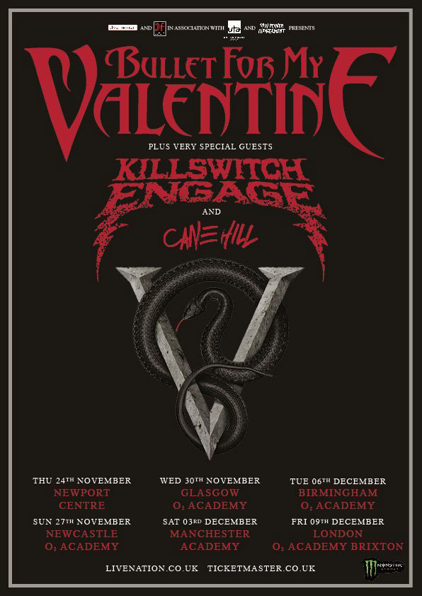 Bullet for my valentine killswitch engage and cane hill the bullet for my valentine killswitch engage and cane hill the academy manchester echoes and dust m4hsunfo