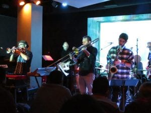 Horn section playing for Whale Fall