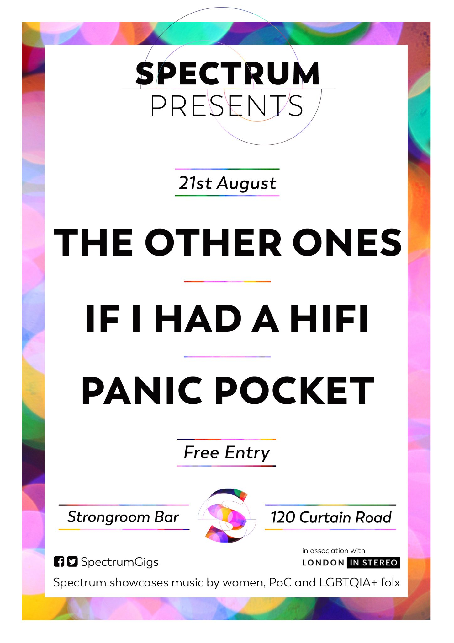 Spectrum presents The Other Ones, Panic Pocket & If I Had A HiFi